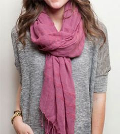 Not only are these scarves super cute, but the profits create sustainable business for women in Africa.