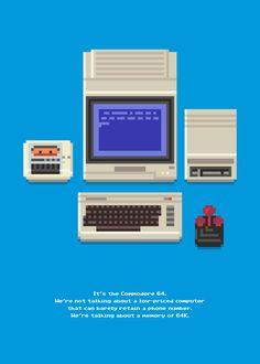 Commodore 64 SetupShown at 500 percent.Original 80s Commodore ad text source