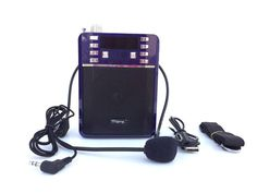 Portable PA System Microphone/Headset USB/Micro-SD FM Radio Recording Purple #Rider Electronic Devices, Headset, Drawstring Backpack, Usb, Electronics, Purple, Bags, Headphones, Handbags
