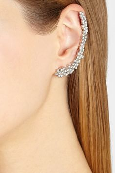 Shop The Accessories Issue of THE EDIT magazine. Ana Khouri|Mirian 18-karat white gold diamond ear cuff