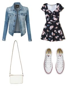 """""""💙💙"""" by zain-mjalli on Polyvore featuring LE3NO, Hollister Co., Converse and Miss Selfridge"""