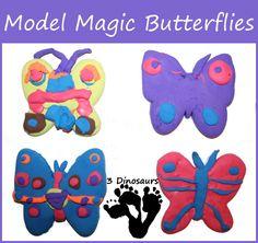 Model Magic Butterflies - Very fun craft activity - 3Dinosaurs.com