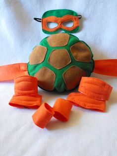KIDS - COSTUME - TURTLE / TORTUE / SCHILDPAD - TMNT accessory set by CapesNCrowns on Etsy