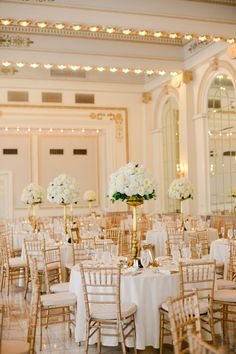 Gold and Ivory Decorated Reception Space | Henry Photography https://www.theknot.com/marketplace/henry-photography-delaware-oh-479234
