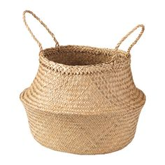 IKEA - FLÅDIS, Basket, You can choose how you want to use this basket – turned up with handles or turned down to display the contents.Collecting your belongings in baskets make it easier to keep organised and find what you're looking for.Each basket is woven by hand and is therefore unique.