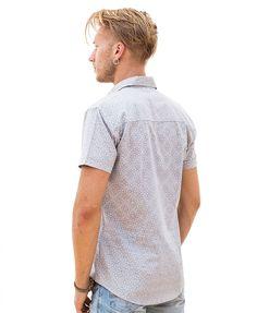 03331c2c79265 Arabesque Button Shirt (Grey). Men s short sleeved button up (button down)