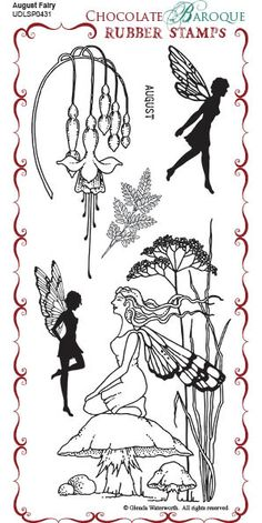 August Fairy Rubber Stamp sheet - DL - Chocolate Baroque