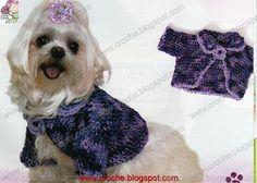 roupa para cachorro - bolero   croche croche