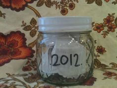 Memory Jar~Write down all of your memories throughout the year and read them on New Year's Eve.                   The Playful Mommy