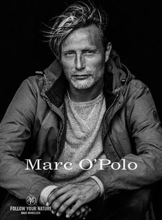 "Mads Mikkelsen in German Marc O'Polo Magazine ""photos by Peter Lindbergh "" Peter Lindbergh, Beautiful Men, Beautiful People, Actors Funny, Le Male, Hugh Dancy, Portraits, Mads Mikkelsen, Julia"