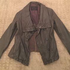 All Saints leather jacket size 8! Amazing quality All Saints leather jacket in brown. Barely been worn.  All Saints Jackets & Coats