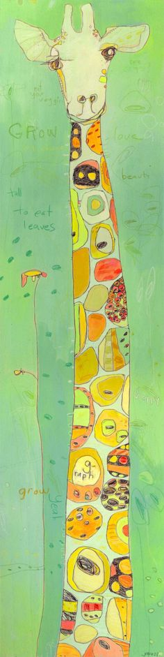 Grow Giraffe Canvas Print by Jennifer Mercede by jennifermercede
