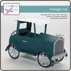 3D Vintage Car Gift Box for Father's Day creative cuts.com $0.99
