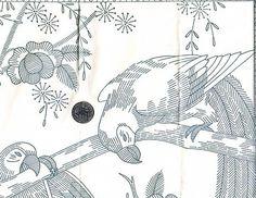 Alice Brooks Pattern 5467 Vintage Original Embroidery Transfer - Parrots! Uncut