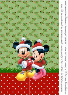 Minnie and Mickey in Christmas: Free Printable Candy Bar Labels. Natal Do Mickey Mouse, Mickey Mouse E Amigos, Mickey E Minnie Mouse, Mickey Mouse Christmas, Mickey Mouse And Friends, Disney Mickey, Disney Art, Wallpaper Do Mickey Mouse, Disney Wallpaper