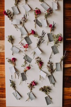 Delightful garden-inspired escort cards | Image by Pam Cooley