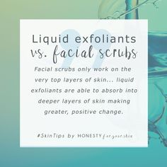 The best exfoliants are super gentle to skin. Although facial scrubs can be natural, they're still pretty aggressive because you have to rub a duck, duck. Instead liquid exfoliants work gradually plus you don't have to scrub. They also work on more than 1 Be Natural, Natural Skin Care, Beauty Care, Beauty Skin, Beauty Tips, Beauty Hacks, Beauty Full, Skin Tips, Skin Care Tips