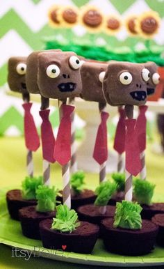 plants vs zombies party ideas | Plants Versus Zombies 6th Birthday Party