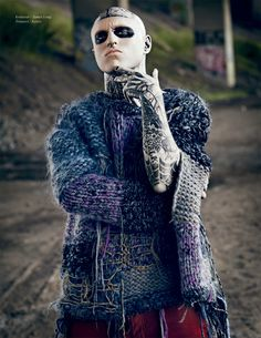 little too colorful for ghost - knitwear by James Long F/W 2011-2012 London