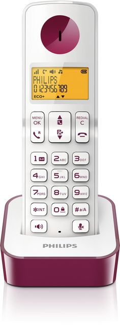 TELEF. INALAMBRICO DECT DIGITAL PHILIPS D2101 PURP