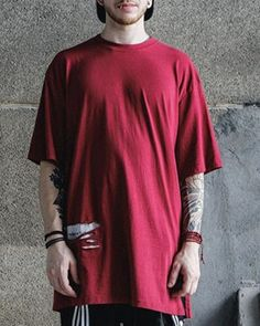 81a32c145ccc0f Hip hop streetwear ripped t shirt with holes for men short sleeve letter tee