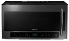 Samsung Black Stainless Steel Over-the-Range Microwave (2.1 Cu. Ft.) - ME21H706MQG/AC   Leon's