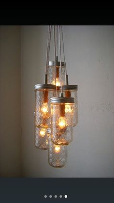 Vintage mason jar chandelier