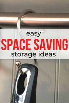 Easy space saving organization ideas for bedroom, kitchen, bathroom. Storage solutions diy on a budget. Cheap and quick storage solutions diy. Storage ideas for small apartments diy. #hometalk
