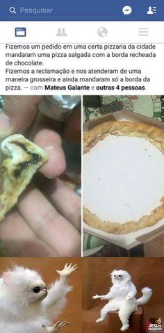 Pizza fantasma com borda recheada