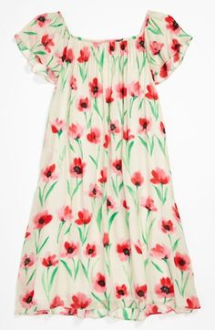 Milly Minis Gathered Dress (Little Girls & Big Girls) available at #Nordstrom