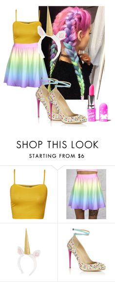 """""""I'm a secret unicorn"""" by flashinglights-397 on Polyvore featuring WearAll, Aquazzura and Lime Crime"""