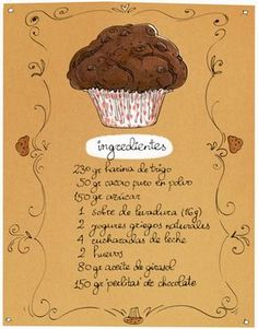 Cartoon Cooking: Muffins de chocolate para domingos vagos