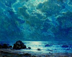 Granville Redmond - Night Sea. Oil on canvas