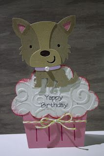Create a Critter - Yappy Birthday puppy cupcake card