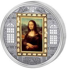 "Cook Islands 2009 $20 ""Mona Lisa"" Leonardo Da Vinci, Masterpieces of Art 3 Oz Proof Silver & Gold."