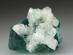 FLUORITE with CALCITE Minerals from Height's Pasture Mine, Weardale, Co Durham, England, Europe at Crystal Classics