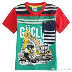2018 New Arrivals Little cute Kids 100% Cotton short sleeve Red and Green Shirt boy's set causal summer boys set shirt