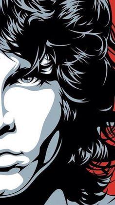 Jim Morrison Phone Wallpaper