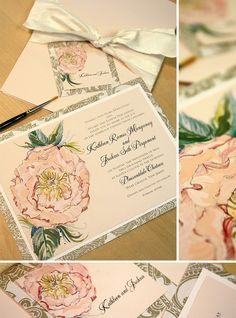 hand-painted wedding invitations