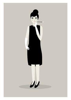 Audrey Hepburn Print  8x10 or A4 by JudyKaufmann on Etsy, $25.00