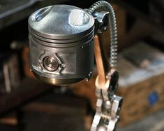 Industrial Desk Lamp - Motorcycle Parts - Ignition Switch - Made To Order