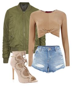"""""""#5"""" by nicoleee-x on Polyvore Slay, Military Jacket, Bomber Jacket, Shoe Bag, Polyvore, Jackets, Collection, Shopping, Shoes"""