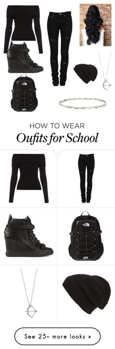 """""""Daughter of Nyx School"""" by percy-jackson-3030 on Polyvore featuring Ellen Hunter, Giuseppe Zanotti, Yves Saint Laurent, A.L.C., Phase 3, The North Face, women's clothing, women, female and woman"""