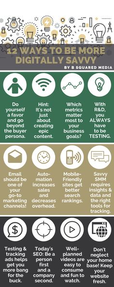 12 Ways To Become More Digitally Savvy [Infographic]