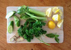 Herbed Green Juice Shot Celery, Juice, Shots, Vegetables, Green, Recipes, Food, Recipies, Essen