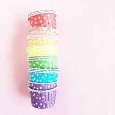 Rainbow Polkadot Candy Cups available at Shop Sweet Lulu