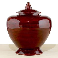 Red Lacquer Bamboo Container | World Market