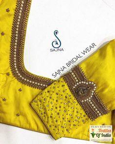 Blouse Back Neck Designs, Cutwork Blouse Designs, Wedding Saree Blouse Designs, Hand Work Blouse Design, Simple Blouse Designs, Stylish Blouse Design, Wedding Sarees, Aari Work Blouse, Sari Blouse