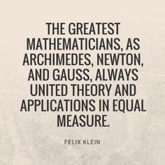 Math Quotes, Post Quotes, Carl Friedrich Gauss, Special Needs Quotes, Famous Quotes, Be Yourself Quotes, Mathematics, Textbook