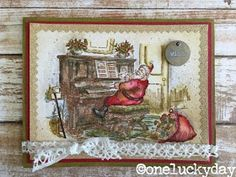 One Lucky Day: Seasonal Stampers Anonymous Christmas Diy, Christmas Cards, Distress Markers, Stampers Anonymous, Lucky Day, Christmas Printables, Merry And Bright, Tim Holtz, Hello Everyone